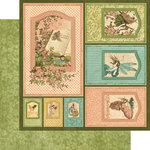 Graphic 45 - Once Upon a Springtime Collection - 12 x 12 Die Cuts - Frames