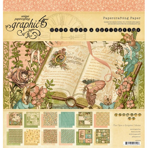 Graphic 45 - Once Upon a Springtime Collection - 12 x 12 Paper Pad