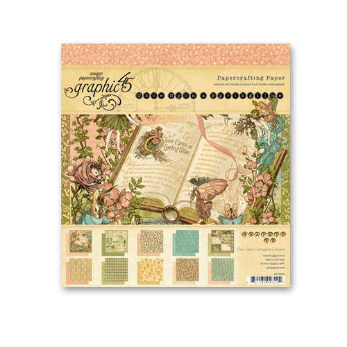 Graphic 45 - Once Upon a Springtime Collection - 8 x 8 Paper Pad