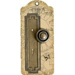 Graphic 45 - Staples Collection - Metal Door Plate and Knob - Geometric