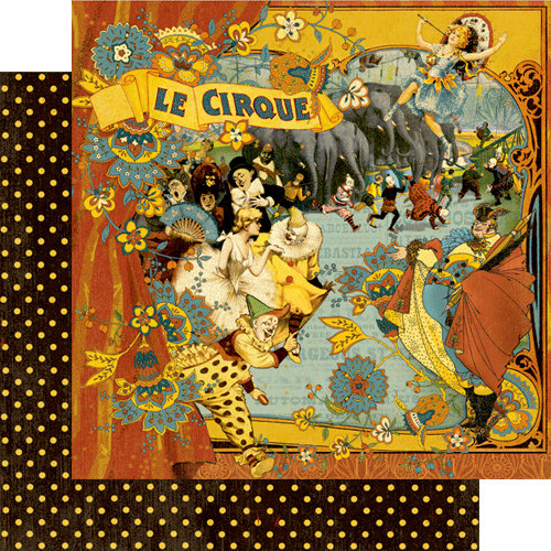 Graphic 45 - Le Cirque Collection - 12 x 12 Double Sided Paper - Le Cirque