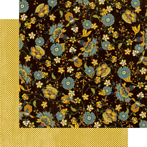 Graphic 45 - Le Cirque Collection - 12 x 12 Double Sided Paper - Bohemian Floral