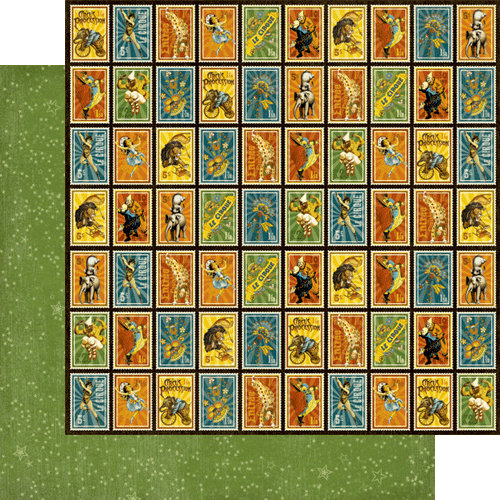Graphic 45 - Le Cirque Collection - 12 x 12 Double Sided Paper - Wizards of Wonder