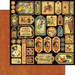 Graphic 45 - Le Cirque Collection - 12 x 12 Die Cuts - Tags