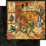 Graphic 45 - The Magic of Oz Collection - 12 x 12 Double Sided Paper - The Magic of Oz