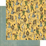 Graphic 45 - The Magic of Oz Collection - 12 x 12 Double Sided Paper - Yellow Brick Road