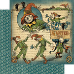 Graphic 45 - The Magic of Oz Collection - 12 x 12 Double Sided Paper - Scatterbrained Scarecrow