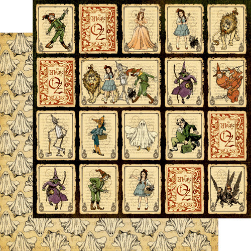 Graphic 45 - The Magic of Oz Collection - 12 x 12 Double Sided Paper - Journey to Oz