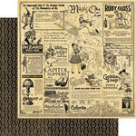 Graphic 45 - The Magic of Oz Collection - 12 x 12 Double Sided Paper - Goblin Gazette
