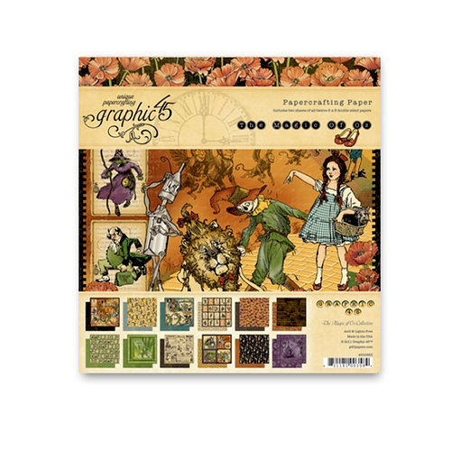 Graphic 45 - The Magic of Oz Collection - 8 x 8 Paper Pad