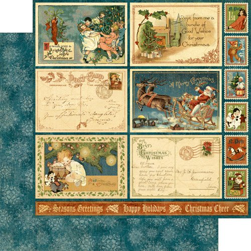 Graphic 45 - Christmas Emporium Collection - 12 x 12 Double Sided Paper - Believe!
