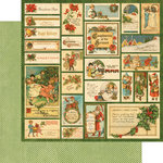 Graphic 45 - Christmas Emporium Collection - 12 x 12 Double Sided Paper - Santa Express