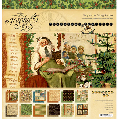 Graphic 45 - Christmas Emporium Collection - 12 x 12 Paper Pad