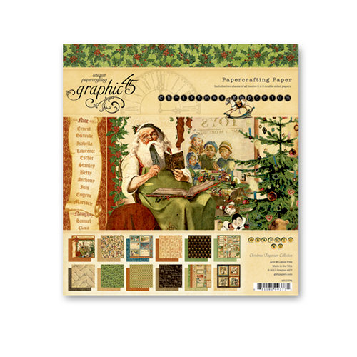 Graphic 45 - Christmas Emporium Collection - 8 x 8 Paper Pad