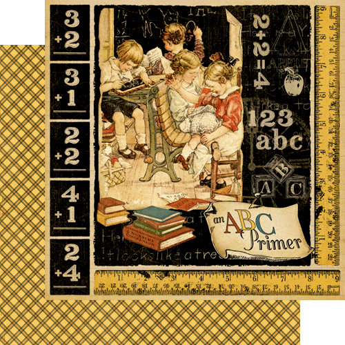 Graphic 45 - An ABC Primer Collection - 12 x 12 Double Sided Paper - An ABC Primer