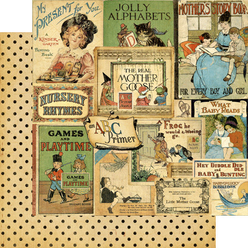 Graphic 45 - An ABC Primer Collection - 12 x 12 Double Sided Paper - Bedtime Stories