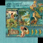 Graphic 45 - Tropical Travelogue Collection - 12 x 12 Double Sided Paper - Tropical Travelogue