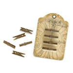 Graphic 45 - Staples Collection - Metal Clothespins