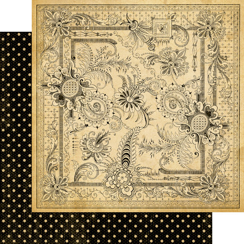 Graphic 45 - Olde Curiosity Shoppe Collection - 12 x 12 Double Sided Paper - Mercurial Masterpiece