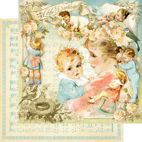 Graphic 45 - Little Darlings Collection - 12 x 12 Double Sided Paper - Little Darlings