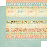Graphic 45 - Little Darlings Collection - 12 x 12 Double Sided Paper - Baby Borders