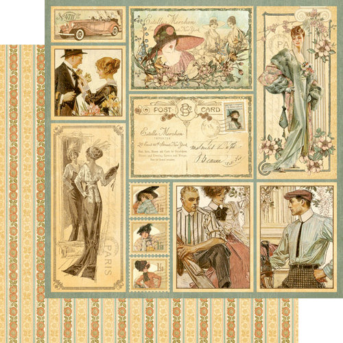 Graphic 45 - Ladies' Diary Collection - 12 x 12 Double Sided Paper - Ageless Beauty