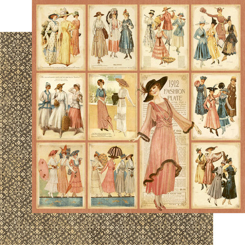Graphic 45 - Ladies' Diary Collection - 12 x 12 Double Sided Paper - Fashion Plates