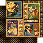 Graphic 45 - Happy Haunting Collection - Halloween - 12 x 12 Double Sided Paper - Happy Haunting