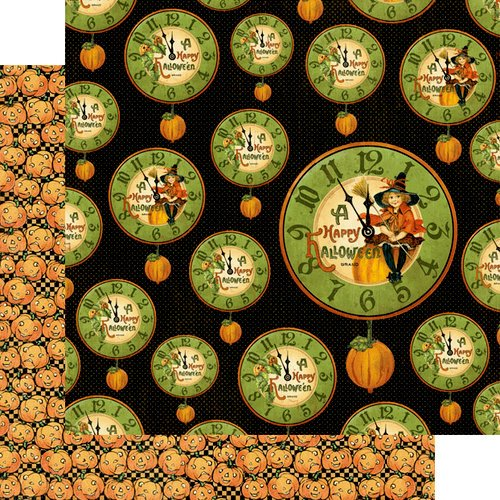Graphic 45 - Happy Haunting Collection - Halloween - 12 x 12 Double Sided Paper - Pumpkin Time