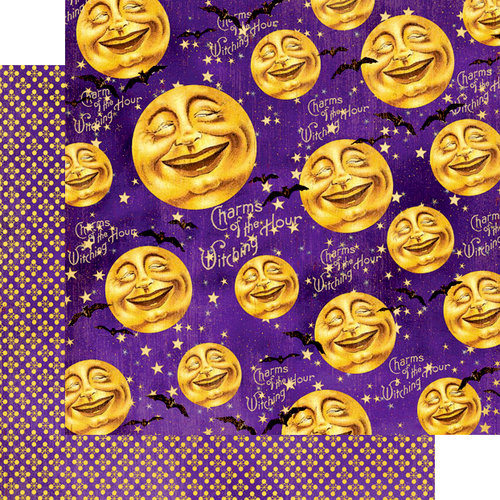 Graphic 45 - Happy Haunting Collection - Halloween - 12 x 12 Double Sided Paper - Man in the Moon