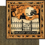 Graphic 45 - Happy Haunting Collection - Halloween - 12 x 12 Double Sided Paper - Fright Night