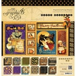 Graphic 45 - Happy Haunting Collection - Halloween - 12 x 12 Paper Pad