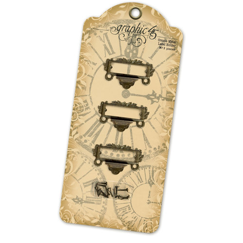 Graphic 45 - Staples Collection - Ornate Metal Label Holder