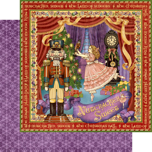 Graphic 45 - Nutcracker Sweet Collection - Christmas - 12 x 12 Double Sided Paper - Nutcracker Sweet