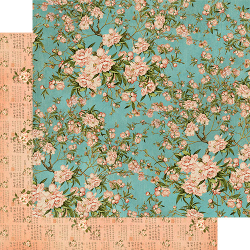 Graphic 45 - Bird Song Collection - 12 x 12 Double Sided Paper - Cherry Blossom