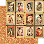 Graphic 45 - Bird Song Collection - 12 x 12 Double Sided Paper - Shanghai Girls