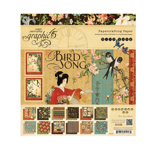 Graphic 45 - Bird Song Collection - 8 x 8 Paper Pad