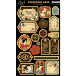 Graphic 45 - Bird Song Collection - Die Cut Chipboard Tags - One