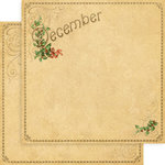 Graphic 45 - Place in Time Collection - 12 x 12 Double Sided Paper - December Foundation