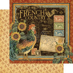 Graphic 45 - French Country Collection - 12 x 12 Double Sided Paper - French Country