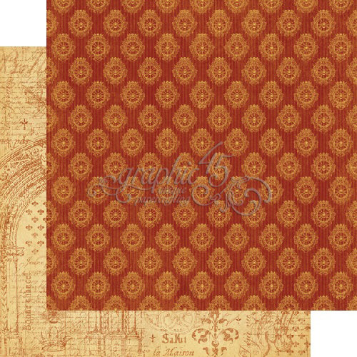 Graphic 45 - French Country Collection - 12 x 12 Double Sided Paper - Rendezvous
