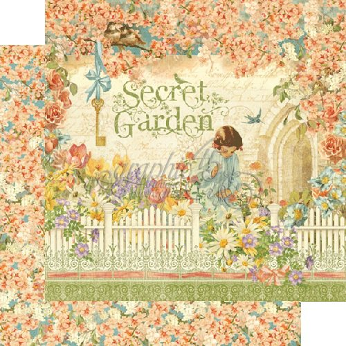 Graphic 45 - Secret Garden Collection - 12 x 12 Double Sided Paper - Secret Garden