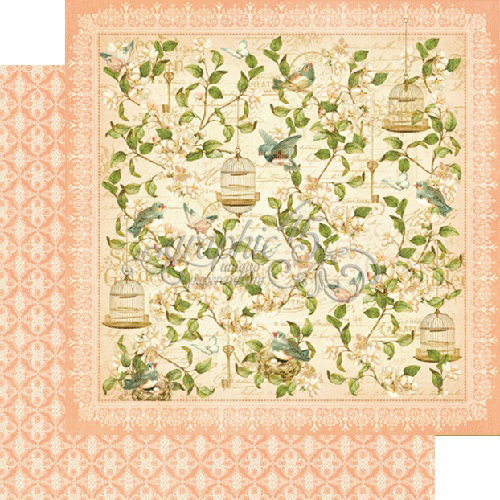 Graphic 45 - Secret Garden Collection - 12 x 12 Double Sided Paper - Leafy Treetops