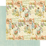 Graphic 45 - Secret Garden Collection - 12 x 12 Double Sided Paper - Posy Patch