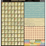 Graphic 45 - Secret Garden Collection - 12 x 12 Cardstock Alphabet Stickers