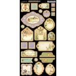 Graphic 45 - Secret Garden Collection - Die Cut Chipboard Tags - Two