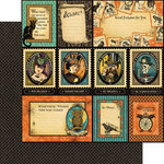 Graphic 45 - Steampunk Spells Collection - 12 x 12 Double Sided Paper - Frightful Folly
