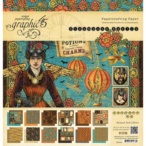 Graphic 45 - Steampunk Spells Collection - 12 x 12 Paper Pad