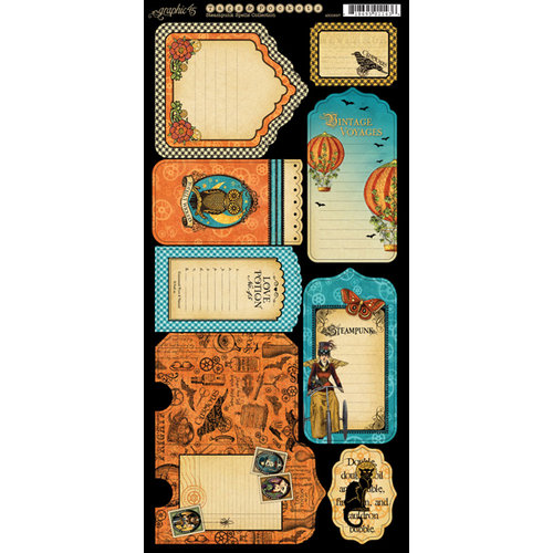 Graphic 45 - Steampunk Spells Collection - Cardstock Tags and Pockets