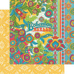 Graphic 45 - Bohemian Bazaar Collection - 12 x 12 Double Sided Paper - Bohemian Bazaar